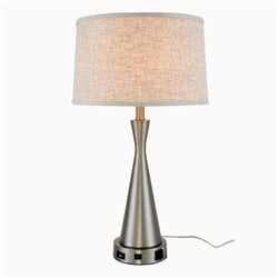 Elegant Lighting Brio Table Lamp in Vintage Nickel