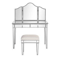 Chamberlan Mirrored Vanity Table Set