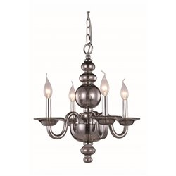 Champlain Chandelier in Silver