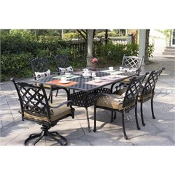 Darlee Camino Real 6 Piece Patio Dining Set in Antique Bronze