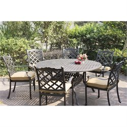 Darlee Camino Real 7 Piece Patio Dining Set in Antique Bronze