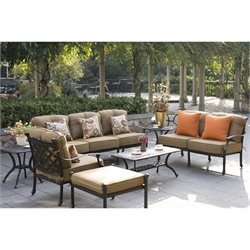 Darlee Camino Real 7 Piece Patio Sofa Set in Antique Bronze