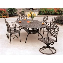 Darlee Catalina 7 Piece Oval Patio Dining Set in Antique Bronze