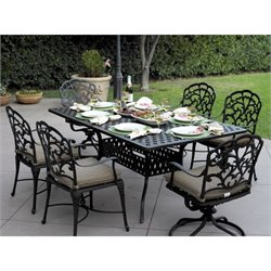 Darlee Catalina 7 Piece Patio Dining Set in Antique Bronze