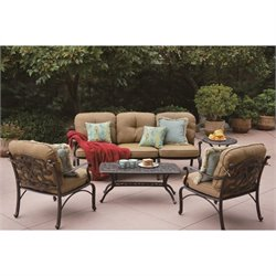 Darlee Catalina 5 Piece Patio Sofa Set in Antique Bronze