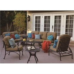 Darlee Catalina 8 Piece Patio Sofa Set in Antique Bronze