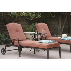 Darlee Charleston 3 Piece Patio Lounge Set in Antique Bronze