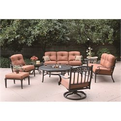 Darlee Charleston 8 Piece Patio Sofa Set in Antique Bronze