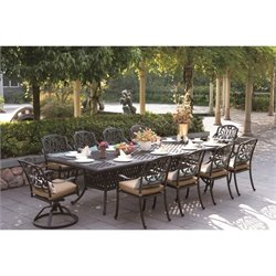 Darlee Elisabeth 11 Piece Patio Dining Set in Antique Bronze