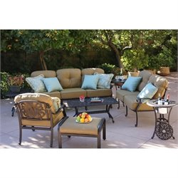 Darlee Elisabeth 6 Piece Patio Sofa Set in Antique Bronze