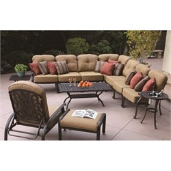 Darlee Elisabeth 12 Piece Patio Sofa Set in Antique Bronze