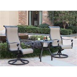 Darlee Monterey 3 Piece Patio Bistro Set in Antique Bronze