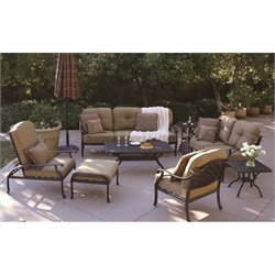 Darlee Nassau 8 Piece Patio Sofa Set in Antique Bronze