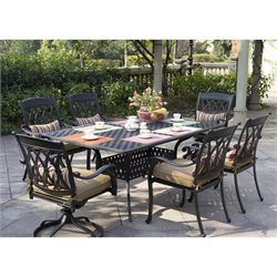 Darlee San Marcos 7 Piece Patio Dining Set in Antique Bronze