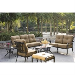 Darlee San Marcos 7 Piece Patio Sofa Set in Antique Bronze