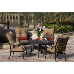 Darlee Santa Anita 5 Piece Round Patio Dining Set in Antique Bronze