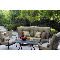 Darlee Santa Anita 5 Piece Patio Sofa Set in Antique Bronze