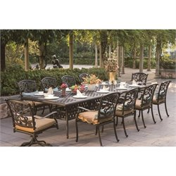 Darlee Santa Monica 11 Piece Patio Dining Set in Antique Bronze