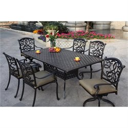 Darlee Santa Monica 7 Piece Patio Dining Set in Antique Bronze