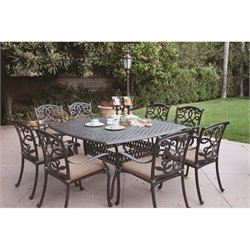 Darlee Santa Monica 9 Piece Patio Dining Set in Antique Bronze