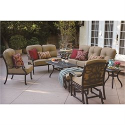 Darlee Santa Monica 8 Piece Patio Sofa Set in Antique Bronze