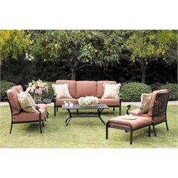 Darlee St. Cruz 6 Piece Patio Sofa Set in Antique Bronze