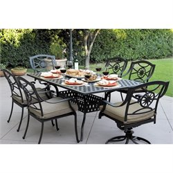 Darlee Ten Star 7 Piece Patio Dining Set in Antique Bronze