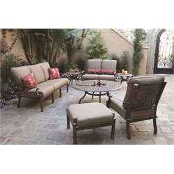 Darlee Santa Barbara 7 Piece Patio Sofa Set with Cushion