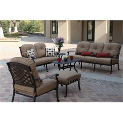Darlee Sedona 6 Piece Patio Sofa Set with Seat and Back Cushion