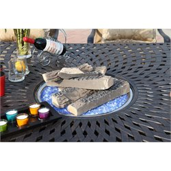 Darlee 5 Piece Patio Fire Logs in Fiberglass
