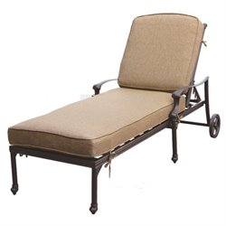 Darlee Camino Real Patio Chaise Lounge in Antique Bronze