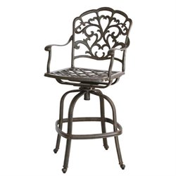 Darlee Catalina Swivel Outdoor  Stool in Antique Bronze (Set of 2)