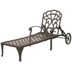 Darlee Catalina Patio Chaise Lounge in Antique Bronze