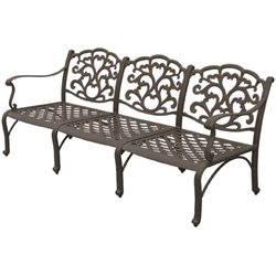 Darlee Catalina Patio Sofa with Cushion in Antique Bronze