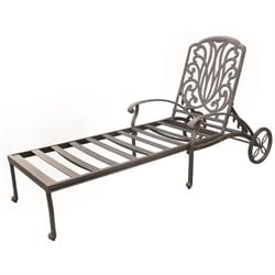 Darlee Elisabeth Patio Chaise Lounge in Antique Bronze