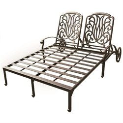 Darlee Elisabeth Double Patio Chaise Lounge in Antique Bronze