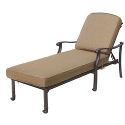 Darlee San Marcos Patio Chaise Lounge in Antique Bronze