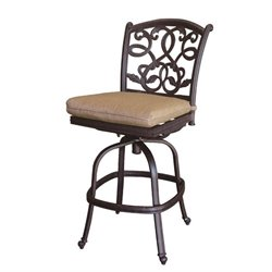 Darlee Santa Monica Outdoor  Stool in Antique Bronze I (Set of 2)