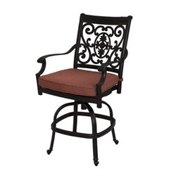 Darlee St. Cruz Swivel Outdoor  Stool in Antique Bronze (Set of 2)