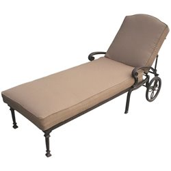 Darlee Ten Star Patio Chaise Lounge in Antique Bronze
