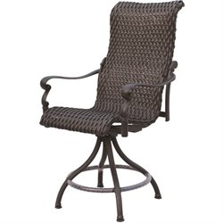 Darlee Victoria Swivel Outdoor  Stool in Espresso (Set of 2)