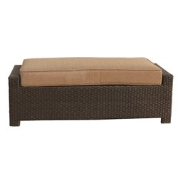 Darlee Vienna Wicker Patio Bench in Espresso