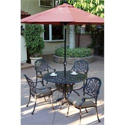 Darlee Patio 9' Auto Tilt Patio Market Umbrella with Paprika Canopy