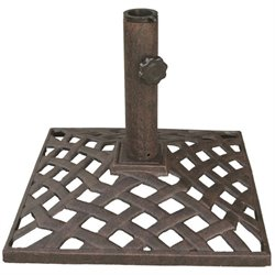 Darlee Basket Weave Patio Umbrella Base in Antique Bronze