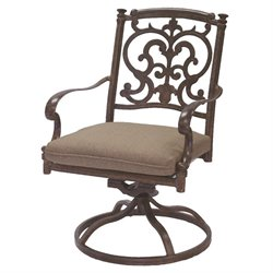 Darlee Santa Barbara Swivel Patio Rocker Dining Chair (Set of 2)