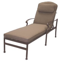 Darlee Santa Barbara Patio Chaise Lounge with Cushion and Pillow