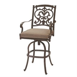 Darlee Santa Barbara Swivel Patio Bar Stool with Cushion (Set of 2)