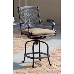 Darlee Santa Barbara Patio Counter Stool with Cushion (Set of 2)