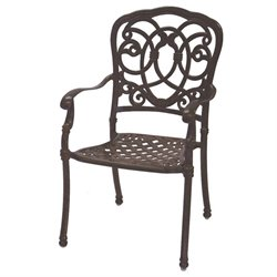 Darlee Florence Patio Dining Chair with Seat Cushion (Set of 4)