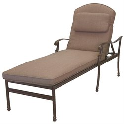 Darlee Florence Patio Chaise Lounge with Sesame Cushion and Pillow